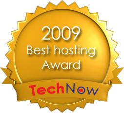 最佳網站寄存獎 2009